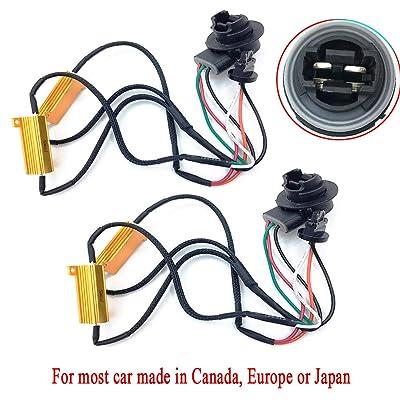 2pcs 50W 6 Ohm 3157 3047 3057 3155 3457 4057 4114 4157 Led Load Resistors Fix Hyper Flash for Switchback LED Turn Signal Blink Light LED License Plate Lights Error Code: Automotive