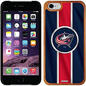 fashion case iphone 4s Madera Wood Thinshield Case with Columbus Blue Jackets Jersey Stripe Design
