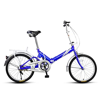 YEARLY Bicicleta plegable estudiante, Bicicleta plegable Ligero Portátil Hombres y mujeres Mini Adultos bicicleta plegable