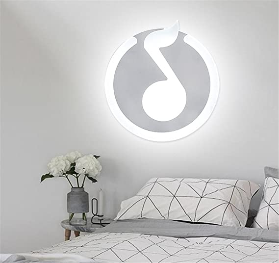 Modernes Creative Acryl Lampenschirm Round Musical Note ...