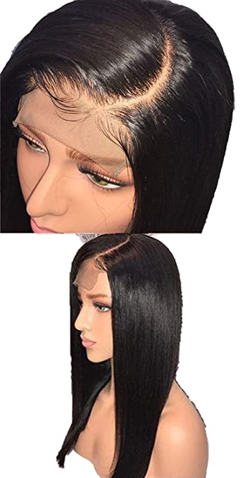 Lace Front Human Hair Wigs Pre Plucked Hairline Straight Hair Wigs For Black Women,Natural