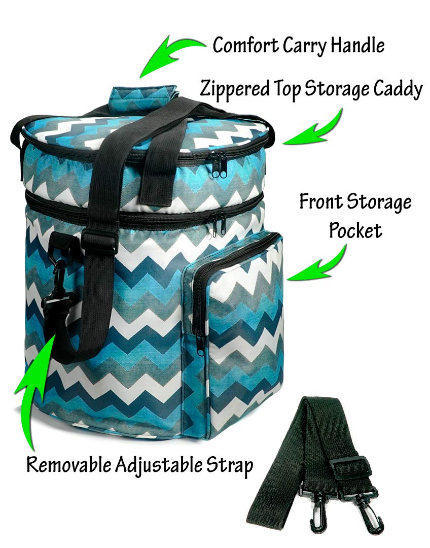 - Easily Transport Your Pressure Cooker to Parties Helpful Household Carry Bag Compatible with Instant Pot Company Picnics Events Blue//White//Black Pattern Potlucks 6 quart Get Togethers