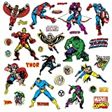 Tools & Hardware : Roommates Rmk2328Scs Marvel Character Peel And Stick Wall Decals, 31 Count