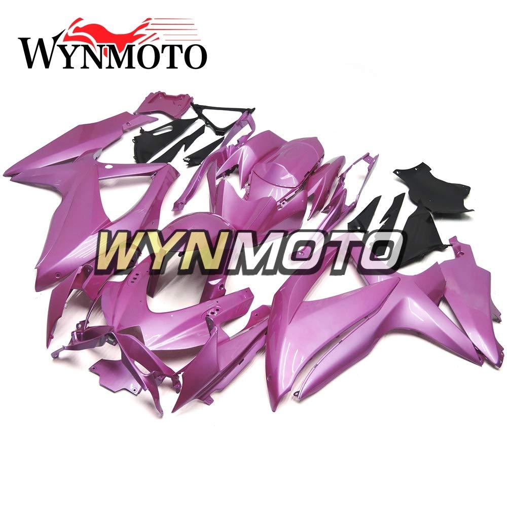 WYNMOTO グロスパープル ABS インジェクションプラスチック外装パーツセット適応フルフェアリング用スズキ GSXR600 2008 2009 2010 gsxr750 K8 年 08 09 10 ボディ   B07PGDXZDS