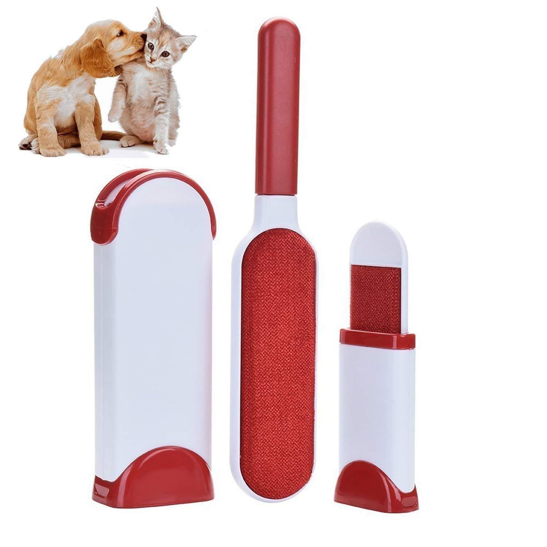 SZSMART Pet Spazzola, Spazzola magica elimina Peli animali Cani Gatti, Pet & Lint Remover, Spazzola Togli Peli Riutilizzabili (Blu)