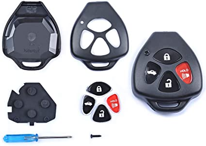 2009-2014 Venza 1 Pack Only Casing 2008-2013 Corolla 2007-2011 Camry UTSAUTO Key Fob Shell Case /& Pad Cover Housing HYQ12BBY GQ4-29T Fits for Toyota 2008-2013 Avalon