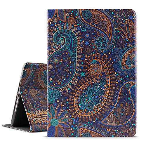 Ipad Case 9.7 Inch 2017 2018/Ipad air Case/Ipad Air 2 Case,Vimorco Apple Ipad 6th/5th Generation Cases with Auto Wake/Sleep, Premium Leather Folio Stand Cover, Paisley Metal