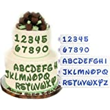 ART Kitchenware 5Pcs/Set Plastic Alphabet Letter Number Cake Stencils for Fondant Cake Decoarting Supplies Cookie Stencil Pastry Baking Tools Semitransparent ST-837