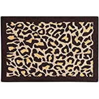 C&F Home Leopard Hooked Rug, 2 x 3, Tan