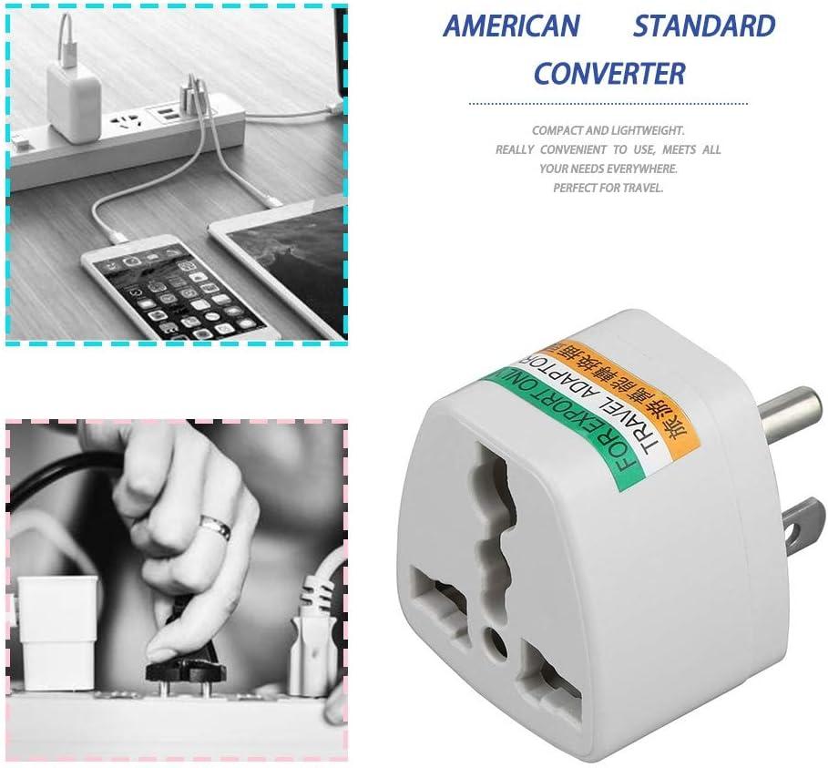 Universal Travel AU UK EU to US AC Power Plug Power Adapter Converter Outlet Home Travel Wall Plug 3 Pin
