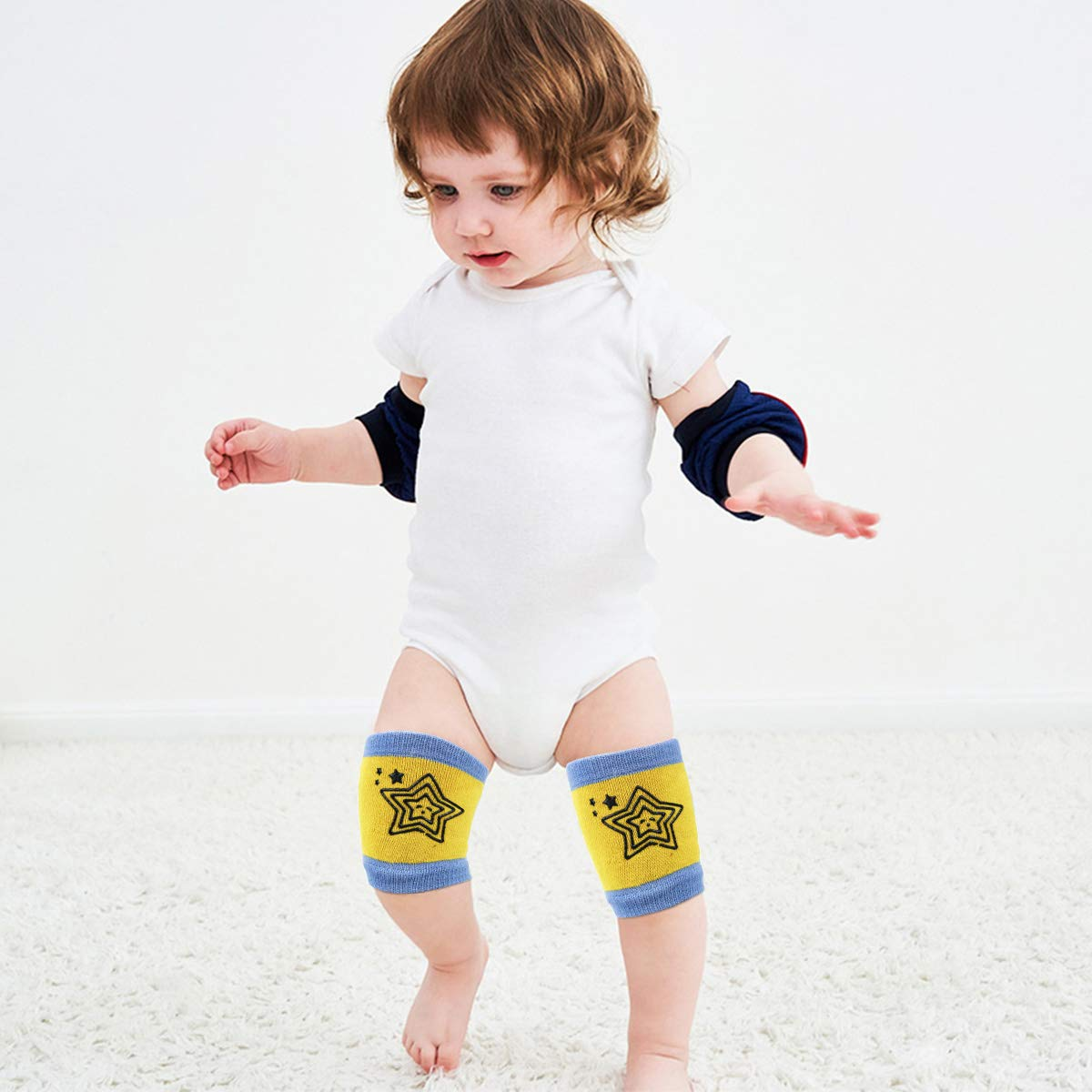 5 Pares Rodilleras Bebe Gateo El/ásticas Baby Leg Warmer para 0 a 36 meses Ni/ños Ni/ñas Algod/ón Rodilleras Beb/é para Gatear Antideslizantes Gateo Protectores de Rodillas
