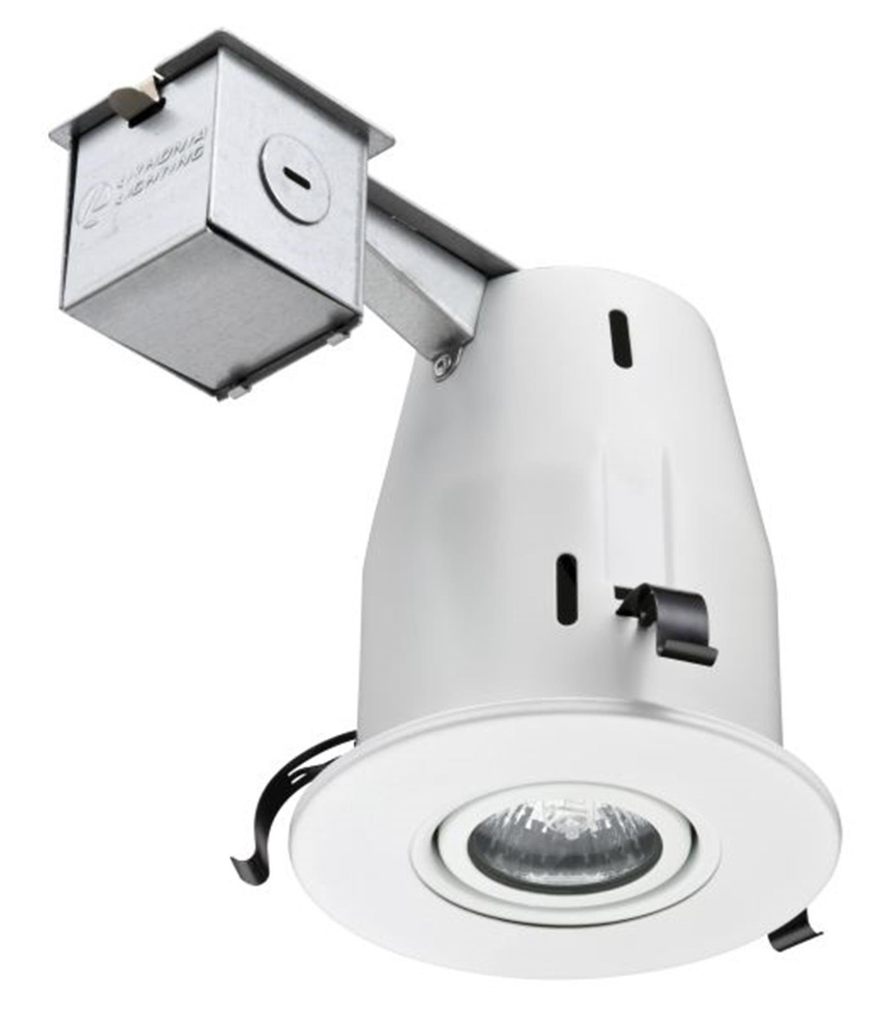Lithonia Lighting LK4GMW LED LPI M6 4 Inch Gimbal Kit with LED Lamp Included in White