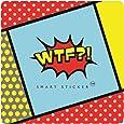 WTF LOG-01 - Etiqueta engomada con logos