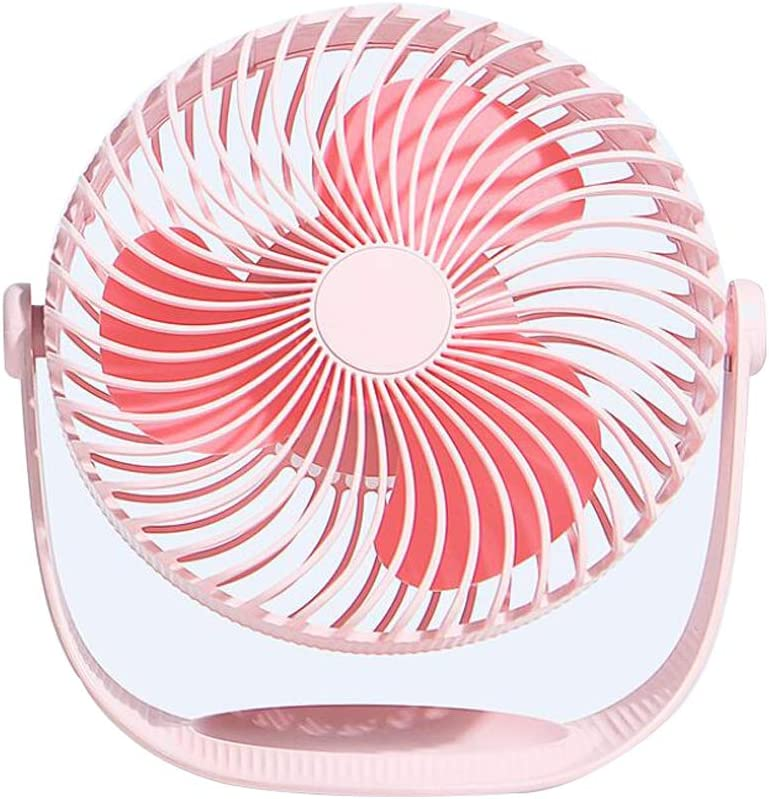 KEYUAN 7-Inch Table Fan of 3 Switching Speeds,2000mAh Battery,360/°Rotatable Mute USB Desk Fan for Office Outdoor,Traveling Home