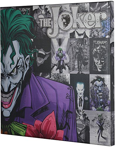 Edge home Products DC Joker Metallic Canvas Art, 25 by 25 inch