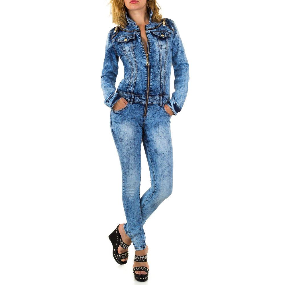 Ital-Design Jumpsuit Skinny Jeans Overall F/ür Damen