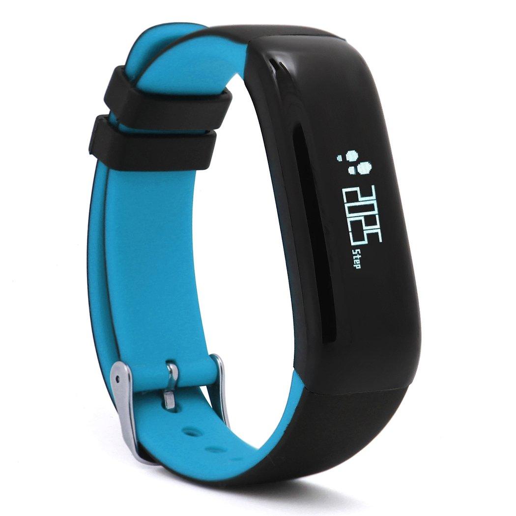 eshionスマートスポーツブレスレットハートレート、血圧、歩数計、Fitness Tracker防水時計for Android IOS B06XX6WRJ8 ブルー