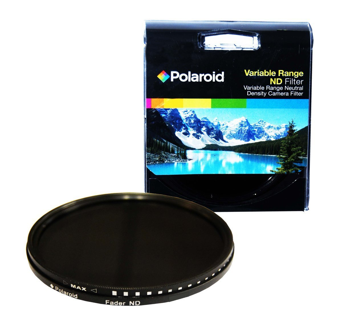 Polaroid Optics 77mm HD Multi-Coated Variable Range (ND3, ND6, ND9, ND16, ND32, ND400) Neutral Density (ND) Fader Filter - 6 Filters in 1!