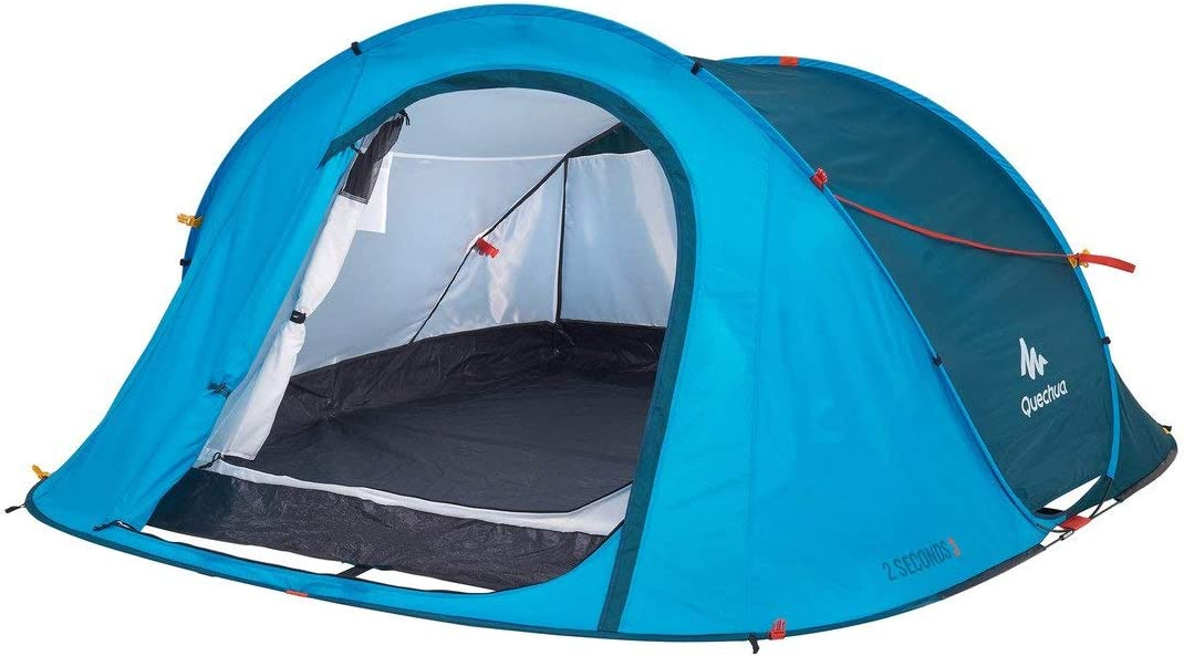 Quechua 2 Seconds Waterproof Pop Up Camping Tent Easy Assembly