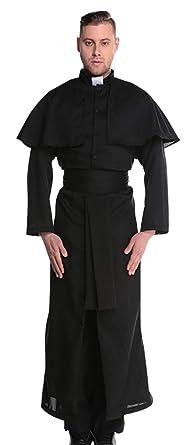 GEMVIE Disfraz Pastor Cosplay para Hombre Halloween ...