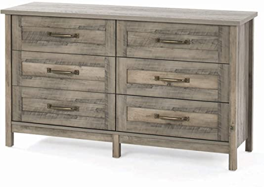 Rustic Grey Modern Stylish Chest Dresser Drawers Bedroom Furniture Bed Room Clothes Organizer Storage Chest Shelf Clothing Cabinet Home Office Living Room Bedroom Unit Decoration