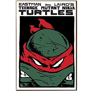 Silver Buffalo NT0936 Teenage Mutant Ninja Turtles Red Mask Wood Wall Art Plaque, 13 by 19-Inch