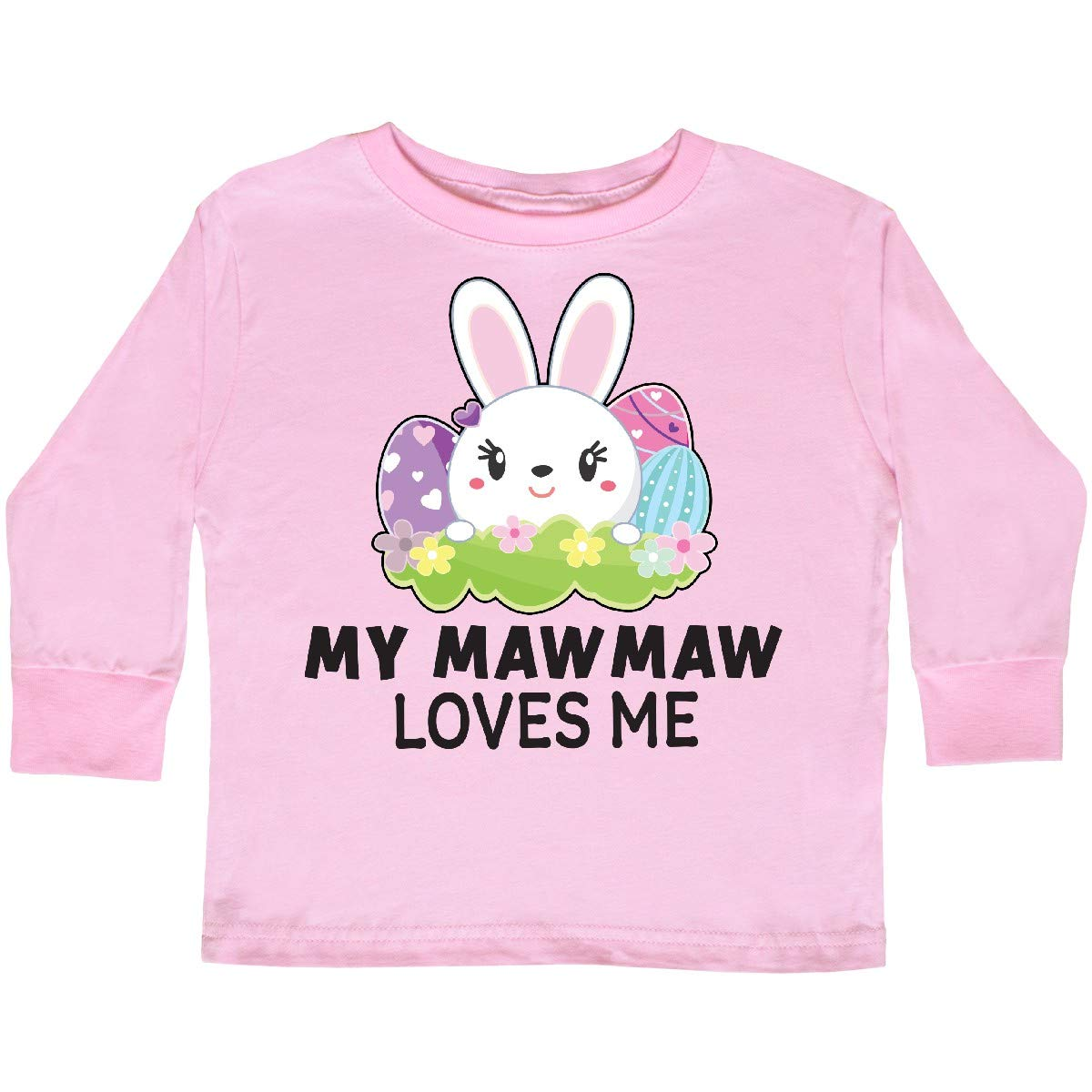 inktastic My Mawmaw Loves Me with Bunny and Easter Toddler Long Sleeve T-Shirt