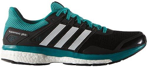 Adidas Supernova Glide 8 para hombre del zapato corriente 9 Verde Negro-blanco-EQT: Amazon.es: Zapatos y complementos