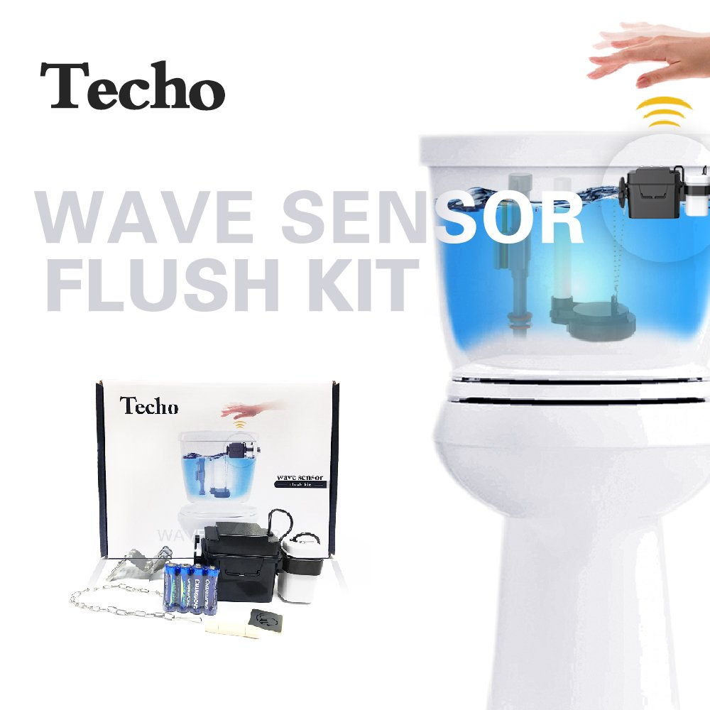 techo touchless toilet flush kit and automatic toilet. Black Bedroom Furniture Sets. Home Design Ideas