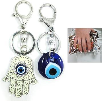 Purple Hand of Hamza Keychain Keychain Keyring Hand of Hamza Stainless Steel Gift