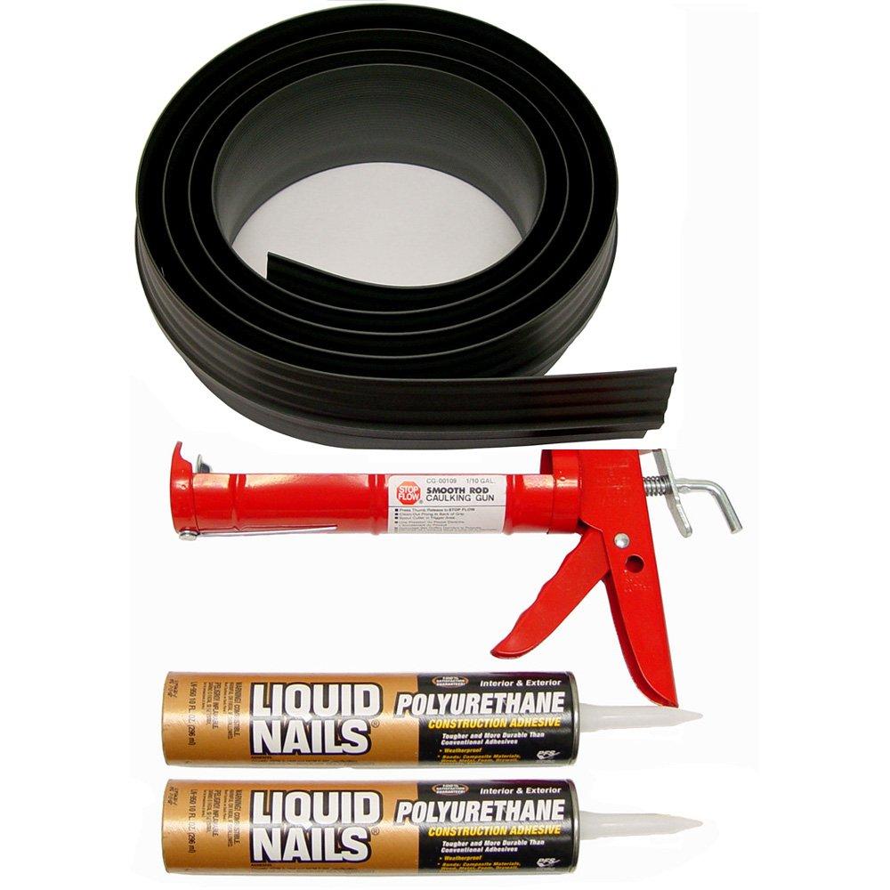 Tsunami Seal 53020 Lifetime Garage Door Threshold Seal Kit - 20 Foot, Black (Various Sizes Available)