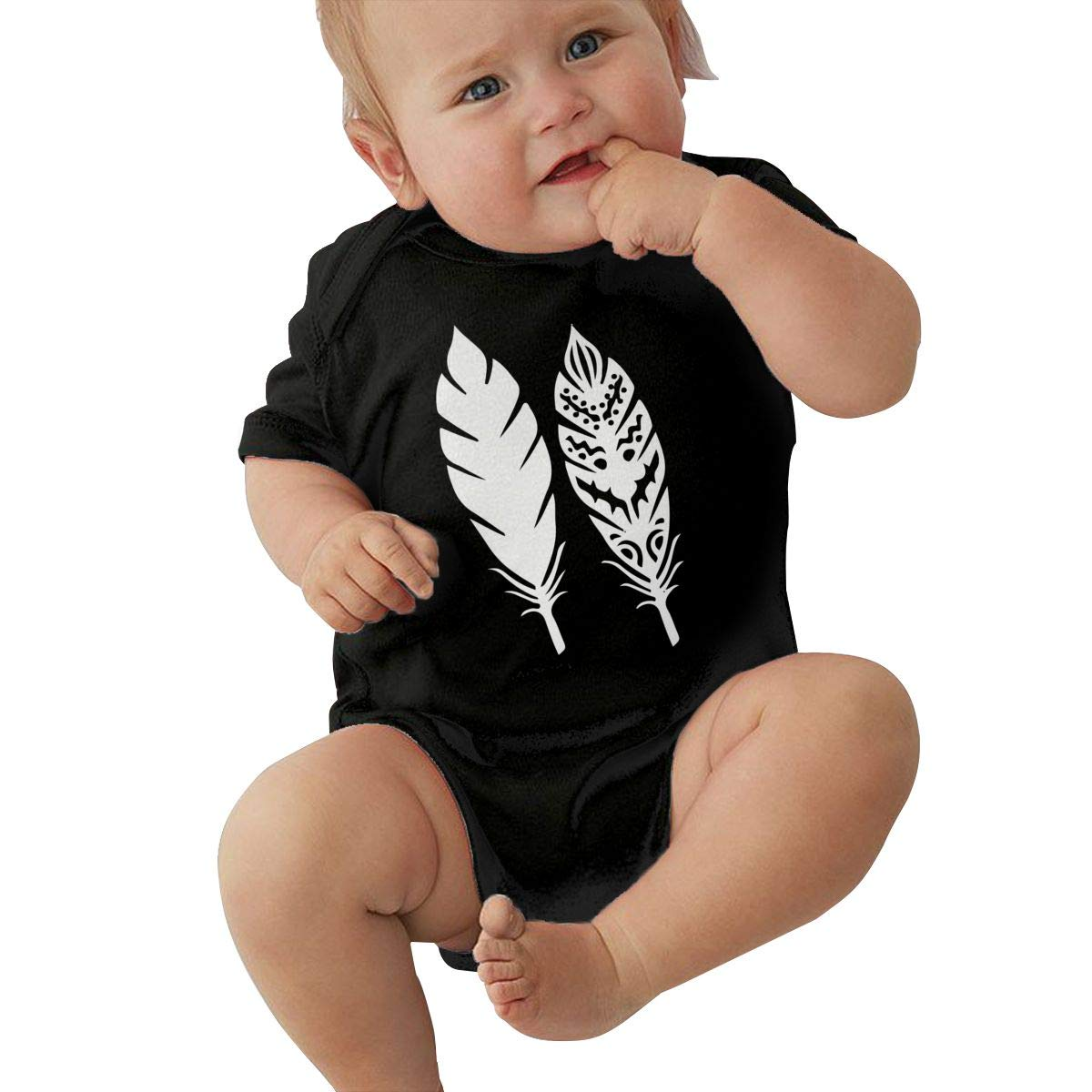 Tribal Feather1 Newborn Baby Girl Boy Romper Jumpsuit Short Sleeve Bodysuit Tops Clothes