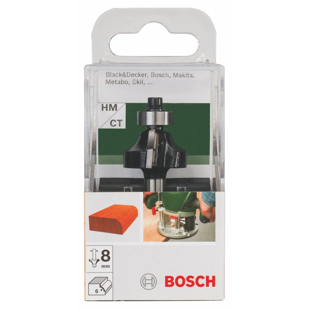 /Ø 8 mm Bosch DIY Abrundfr/äser HM f/ür Holz