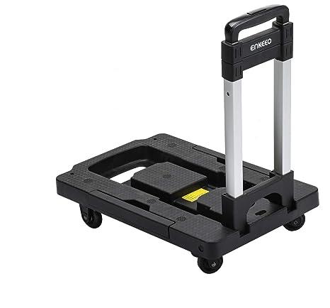 Amazon.com: ENKEEO - Carro plegable de mano con capacidad de ...