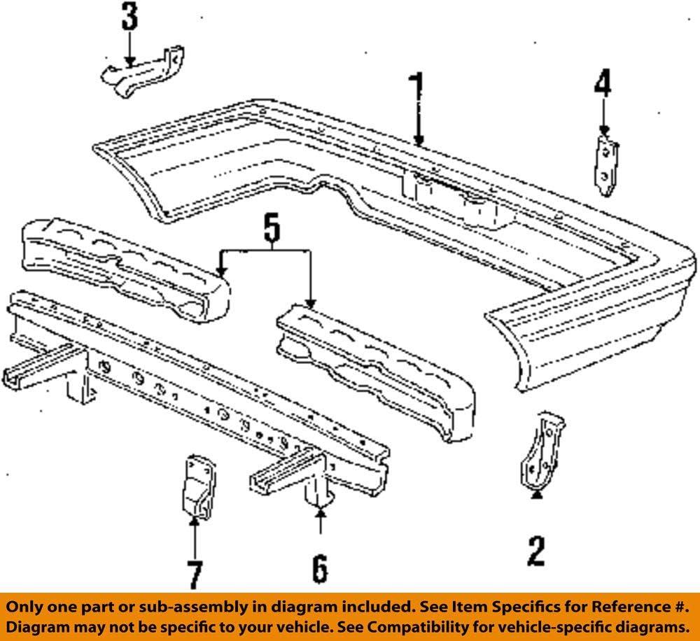 Genuine Honda 90679-SB0-662 Left Rear Bumper Corner Slide Clip