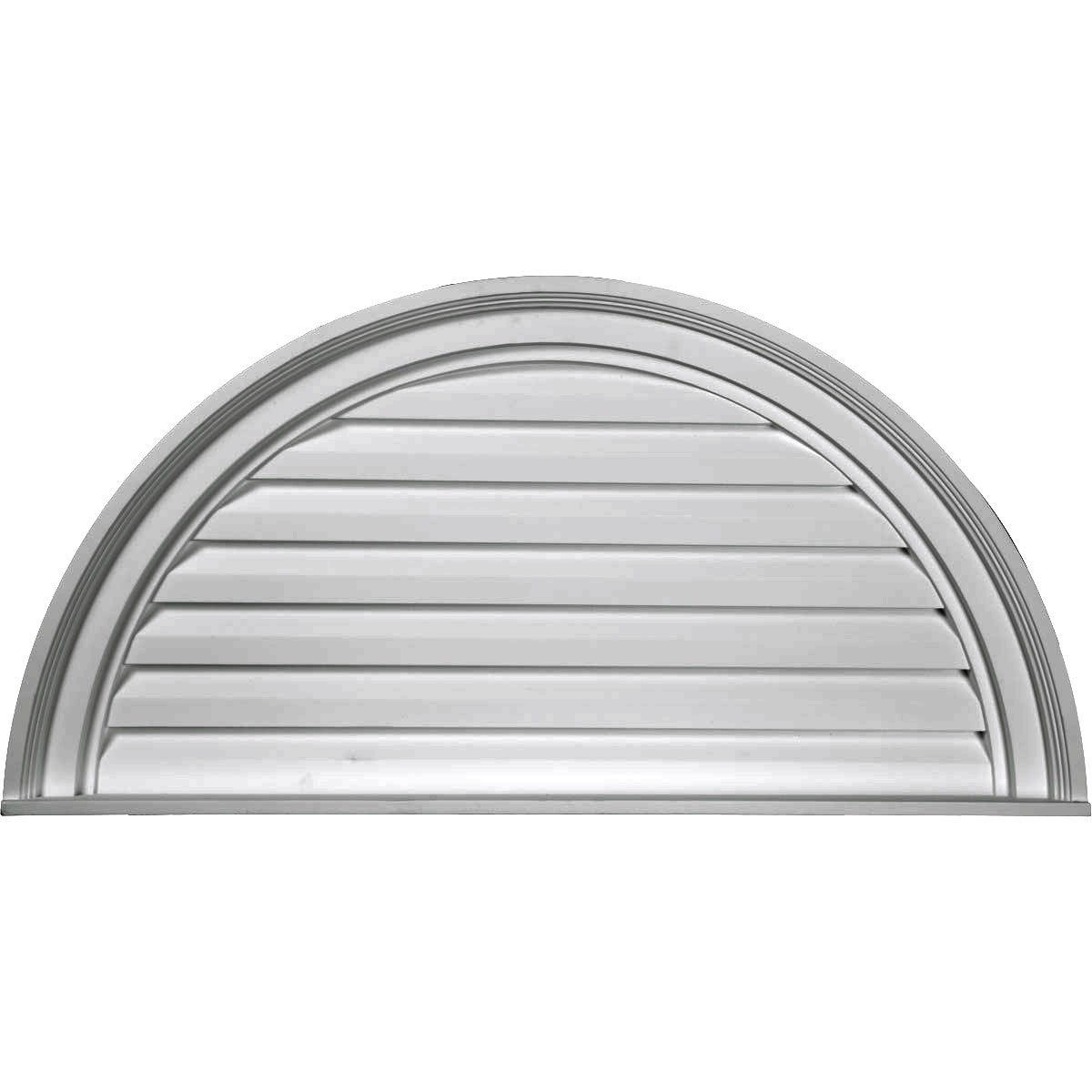 Ekena Millwork GVHR60F 60-Inch x 30-Inch x 2 1/2-Inch , Half Round Gable Vent Louver, Functional
