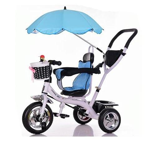 Carrito de bebé Triciclo Baby Carriage Bicicleta de juguete infantil Trolley Bicicleta de rueda inflable 3