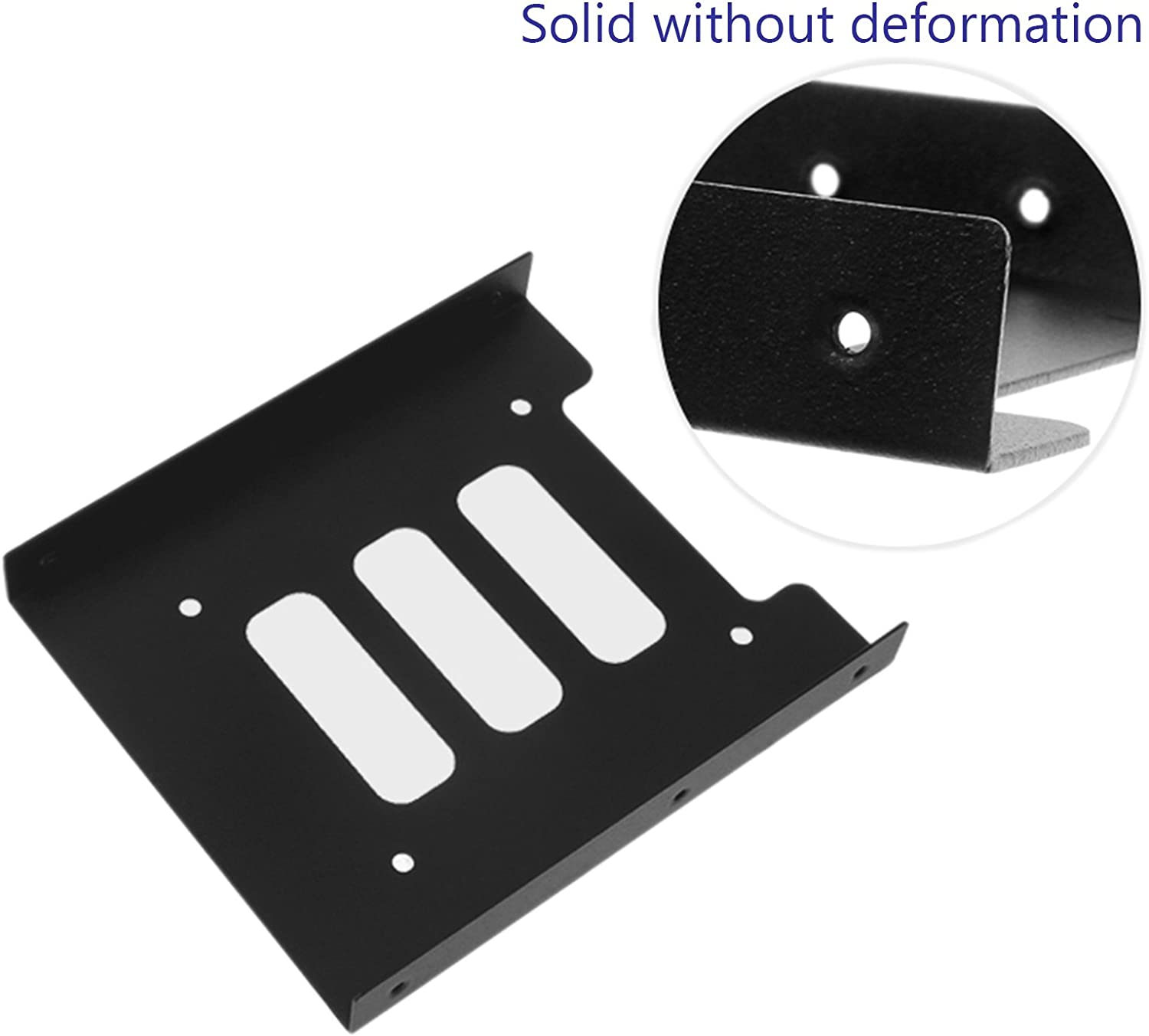 2.5 inch SSD HDD to 3.5 inch Metal Mounting Adapter Bracket Hard Drive Holder with 1 pcs 18 Inch SATA III 6.0 Gbps Cable LiuTian SSD Tray