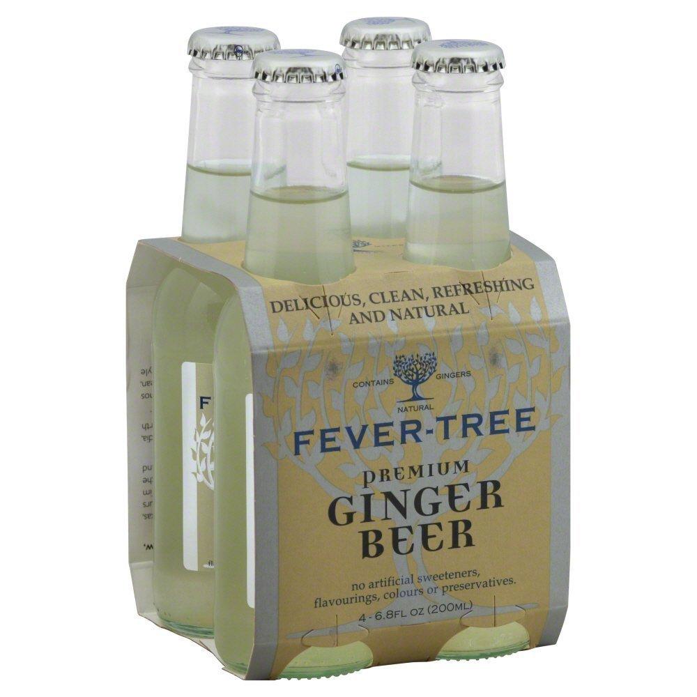 Fever Tree Premium Ginger Beer Soda, 6.8 Fluid Ounce - 4 per pack - 6 packs per case.