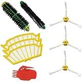 De haute qualité Kit 3-armés brosse latérale et filtre & Brosse & Flexible Beater Brush & Tool Brosse pour iRobot Roomba 500 Seria 510 530 532 535 540 555 560 562 570 572 580 581 590