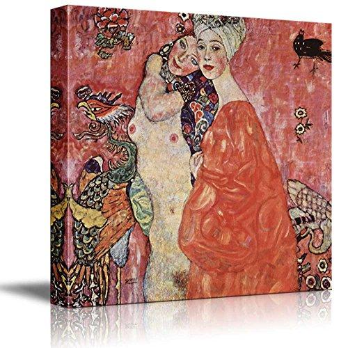 Two Women Friends by Gustav Klimt Austrian Symbolist Painter