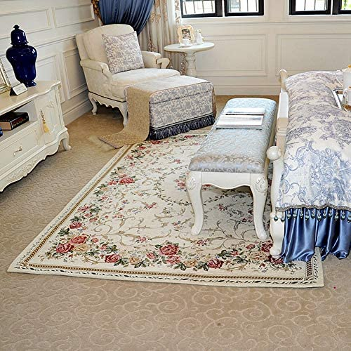 Ukeler Vintage Rustic Shabby Rose Rugs Luxury Soft Elegant Traditional Rugs Accent Floral Floor Rugs Carpet