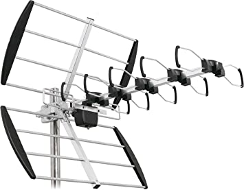 SKT SL24-01 Antena Exterior UHF 24 Elementos tipo de X para TDT DVB-T2 HD