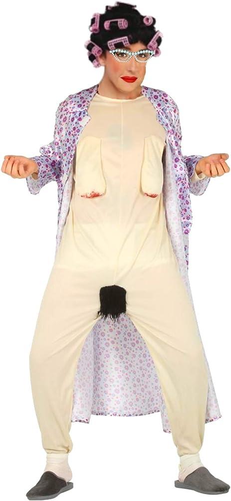 Disfraz de Abuela chochona con peluca de rulos: Amazon.es: Ropa y ...