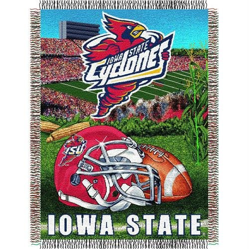 "The Northwest Company Officially Licensed NCAA Iowa State Cyclones Home Field Advantage Woven Tapestry Throw Blanket, 48"" x 60"""
