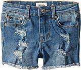 Hudson Kids Baby Girl's 3'' Fray Hem Shorts In Illustrion Blue (Infant) Illustrion Blue 24 Months