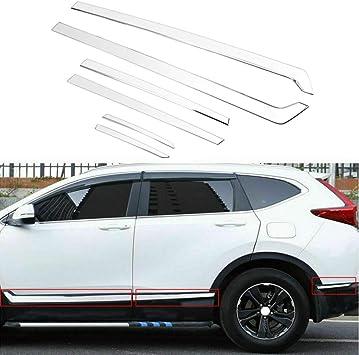 Stainless Side Door Body Molding Cover Trim 6pcs FitFor 2017 2018 Honda CR-V CRV