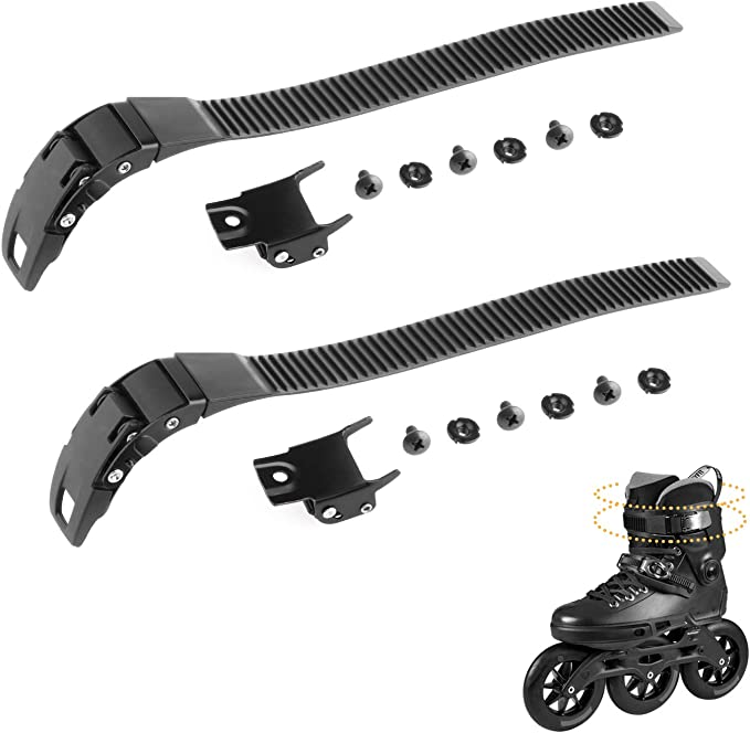 4 X Replacement Inline Skate Shoes Energy Strap W// Clamp Screw Nut