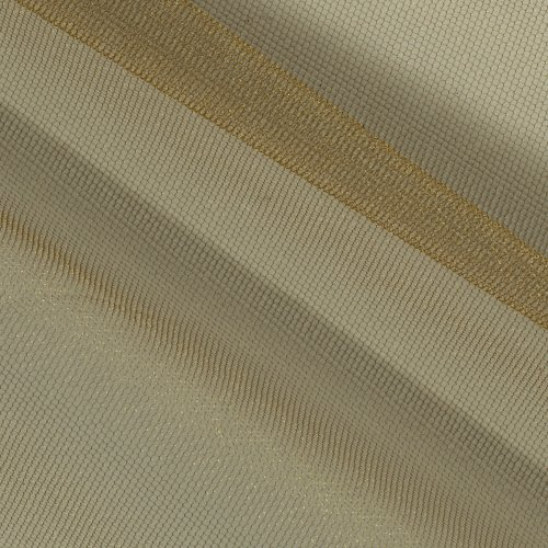 Expo International Shiny Tulle Antique Gold Fabric by The Yard
