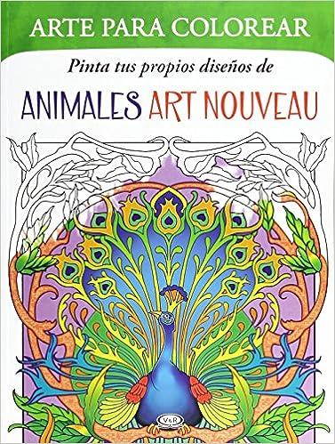 ANIMALES ART NOUVEAU ARTE PARA COLOREAR